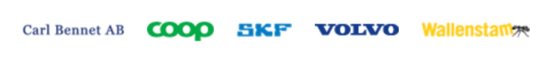 Logo Grundare Carl Benett COOP SKF VOLVO Wallenstam dålig upplösning