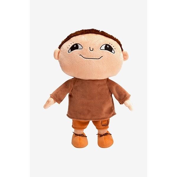 Bild på Alfonsdocka i brun tröja och bruna byxor